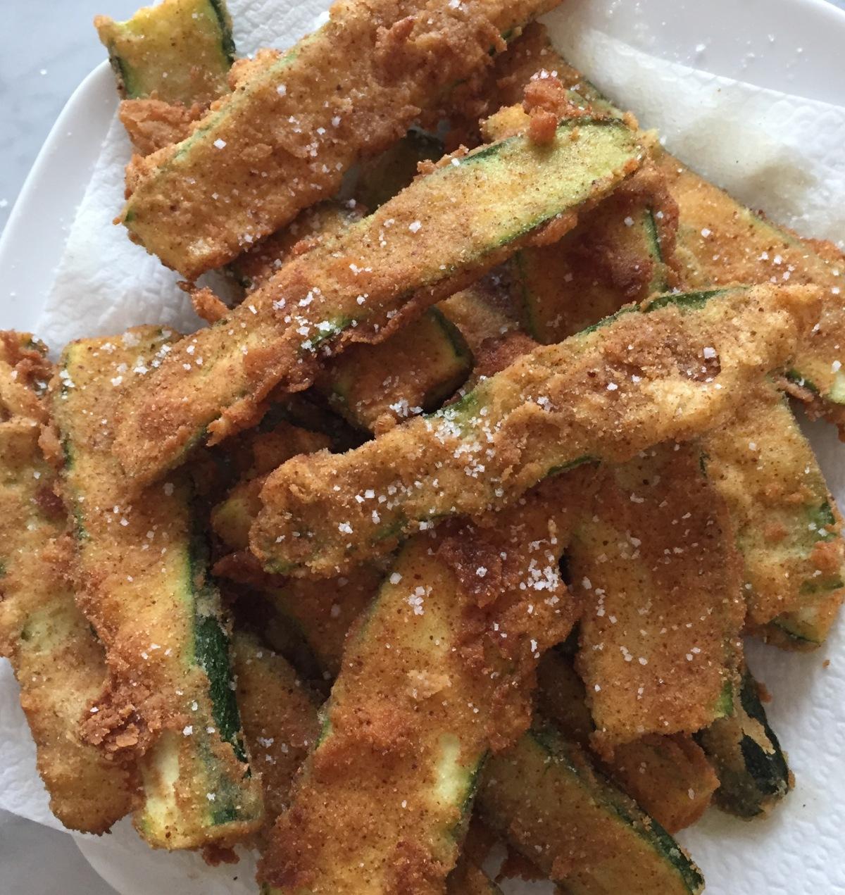 It's Fry- day…..Crispy Crunchy Salted FriedZucchini
