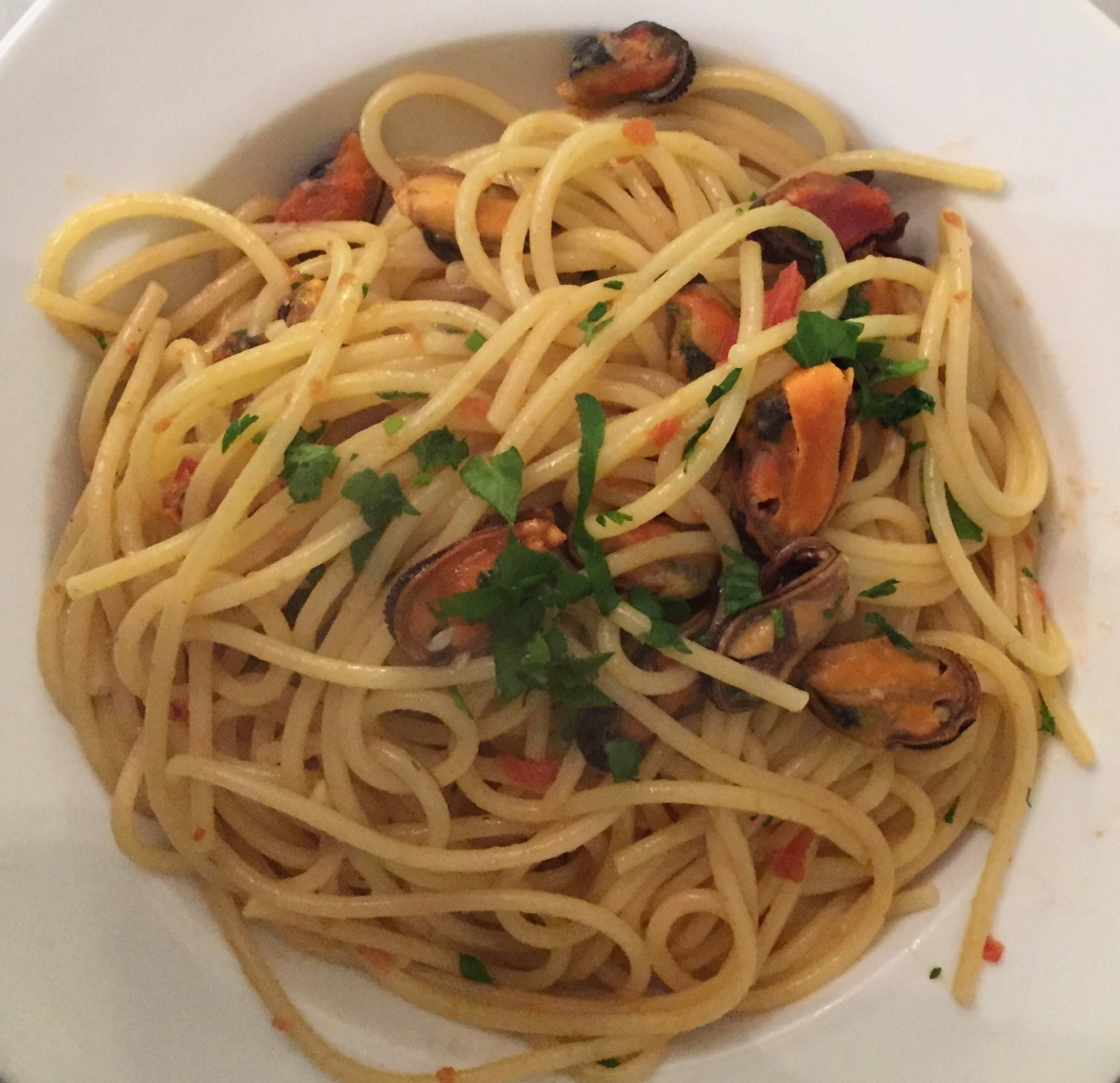 Fish on Friday….Spaghetti with Mussels